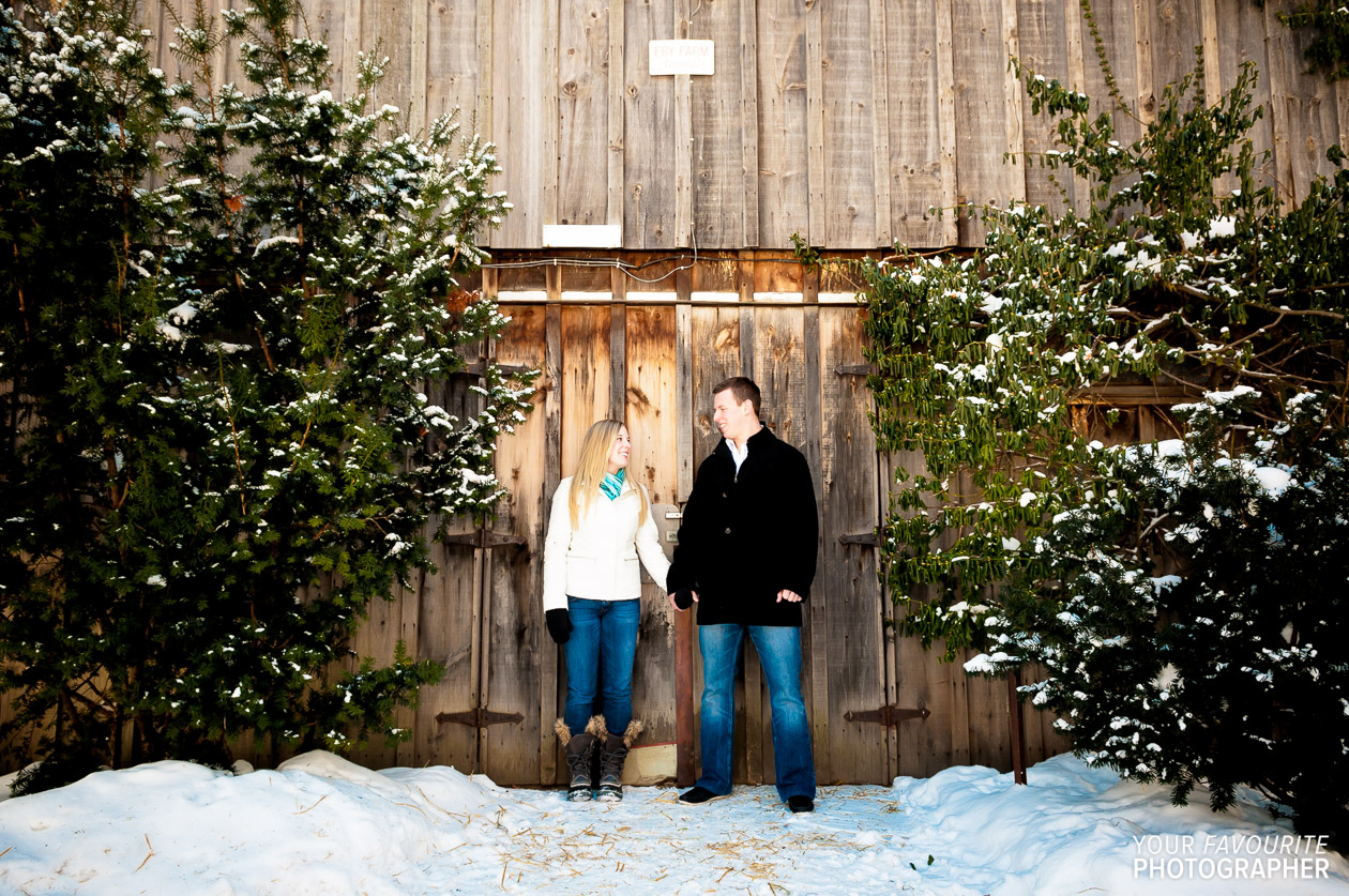 Kitchener-Waterloo Winter Engagement Photos | Michelle & Adam