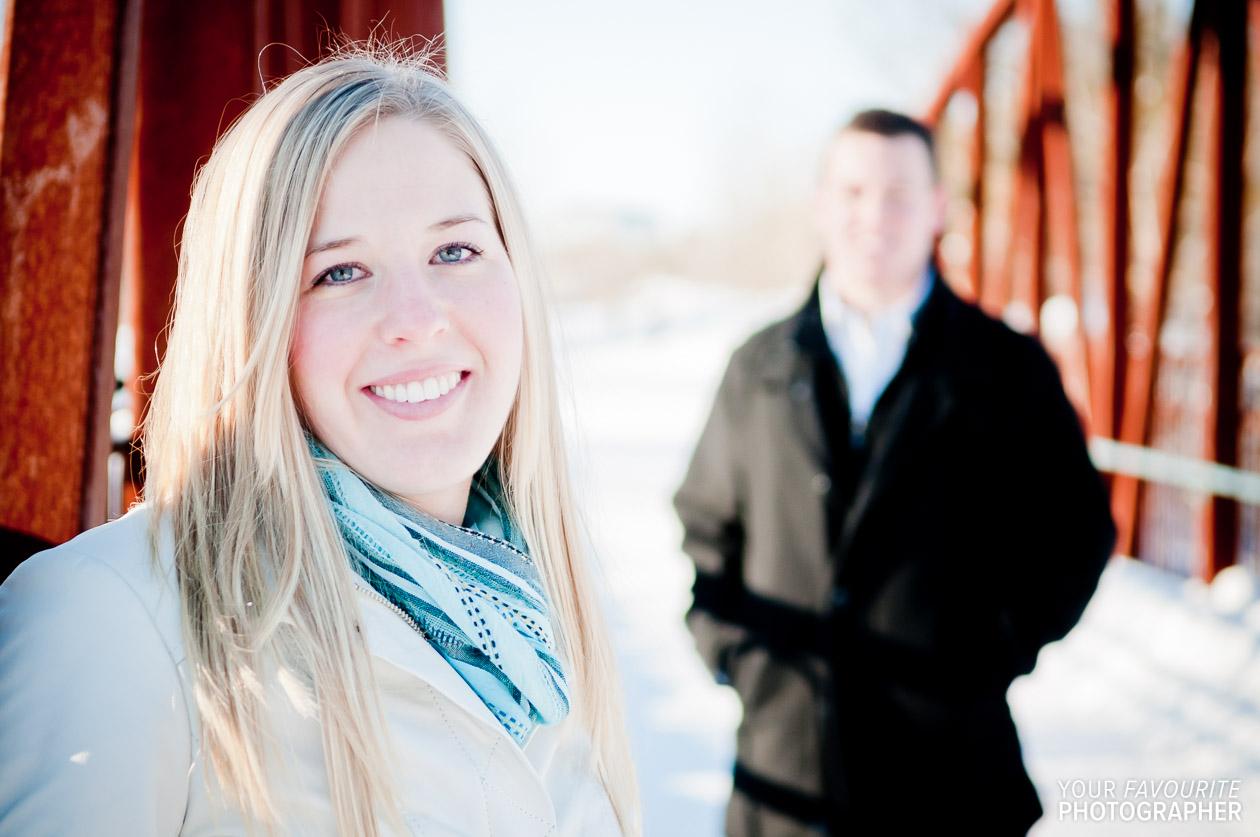 Kitchener-Waterloo Winter Engagement Photos | Michelle & Adam