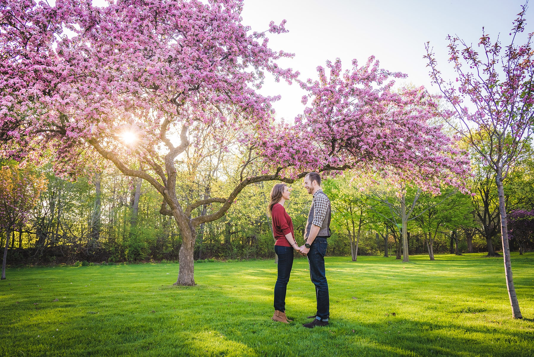 Toronto engagement photographer at High Park