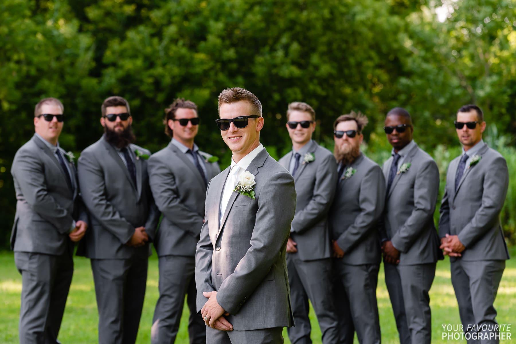 Sam & Josh's backyard wedding photos in Courtice, Ontario